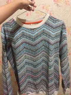 Sweater heath motif aztec