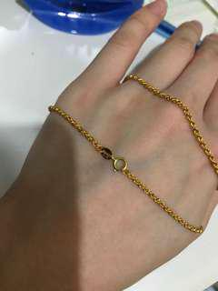 18k yellow gold necklace (16inches)