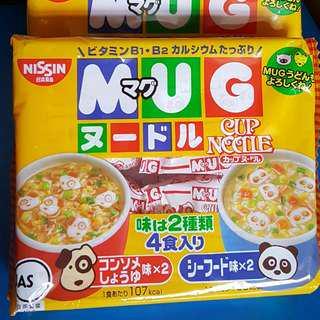 🚚 現貨 日本日清馬克杯泡麵 MUG醬油&海鮮泡麵 NISSIN可愛動物迷你泡麵