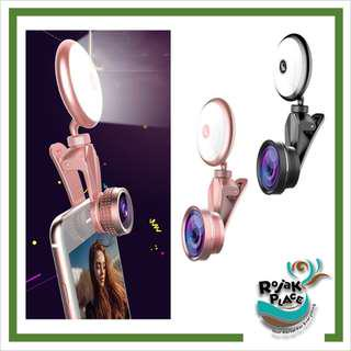 RK19S 4K HD 3 in 1 Universal Lens with Adjustable LED Fill Light