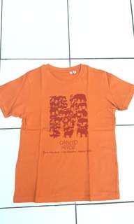 Kaos Uniqlo Orange