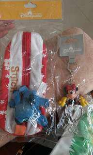 香港迪士尼精品 筆袋及鎖匙扣