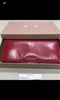 🚚 BNIB Miu Miu Bicolor Rosso Violet Wallet