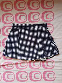Pleated Checkered Skirt