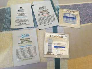 Lancome / kiehls sample (6packs)