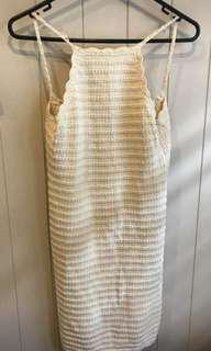 Cream Crochet Summer Dress
