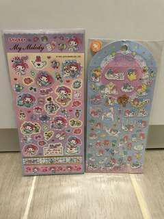 售: Melody Twin Stars 貼紙 2張