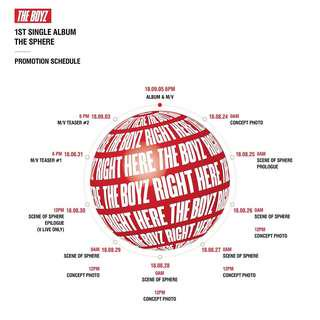 THE BOYZ 1ST SINGLE ALBUM - THE SPHERE