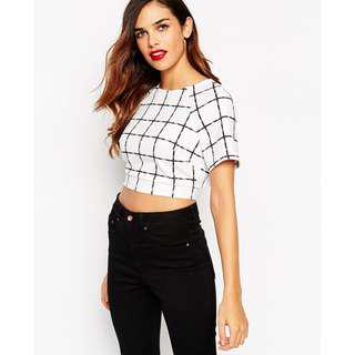 ASOS Kimono Crop Backless Top