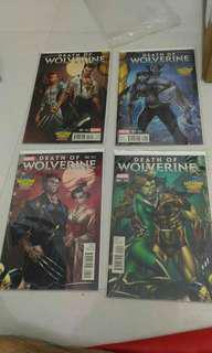 Marvel Wolverine x-men comic variant