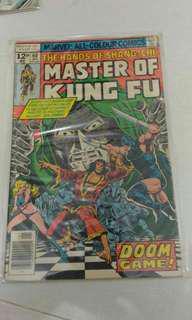 Marvel master of kung fu comic