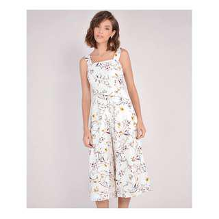 HerVelvetVase Floral Jumpsuit Size Small