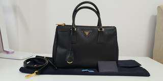 Prada Saffiano  sling and hand bag