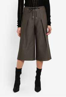 Something borrowed by zalora waist tie pleated culottes