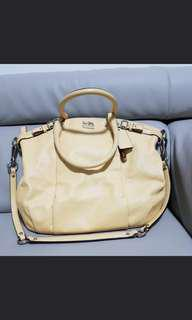 Coach shoulder and sling  yellow bag