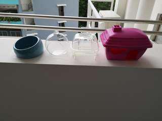 🚚 Various hideout n bath for hamsters