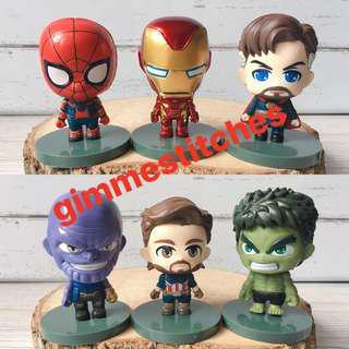 marvel avengers infinity war mini figure set
