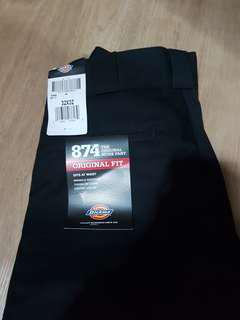 Dickies Original 874 Work Pants Straight Fit in Black