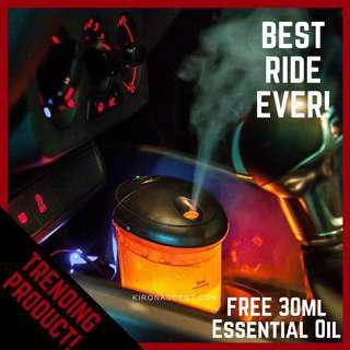 🚚 Car Aroma Diffuser/Car Humidifier/Car Diffuser/Car Essential Oil Diffuser. FREE DELIVERY! FREE 30ML ESSENTIAL OIL! USB Diffuser.