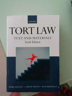 PHYSICAL TEXTBOOK :- Tort Law by Mark Lunney and Ken Oliphant)