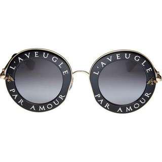 Gucci Blind for Love eyewears 太陽眼鏡 現貨18004