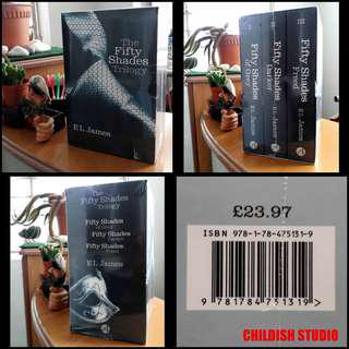 Rare 50 SHADES OF GREY Complete Books Set