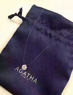 Agatha Paris Short Necklace FIL Magique - S - Crystal