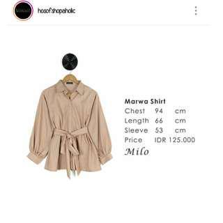 Marwa shirt hosofshopaholic atasan .blouse .bomber