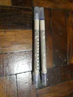 Zig calligraphy blending pens