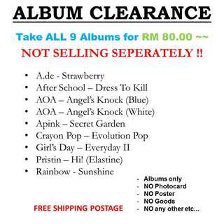 ALBUM CLEARANCE