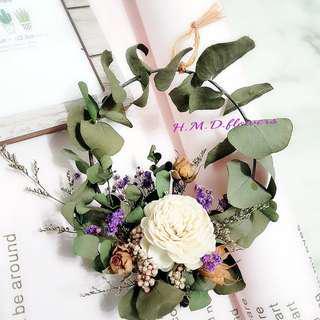 尤佳利葉 材料包 花材 花圈 乾燥花 DIY 手作
