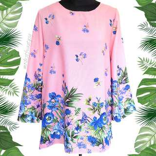 XL/XXL Tropical Floral Blouse