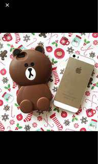 BROWN SOFTCASE Iphone 5/5s
