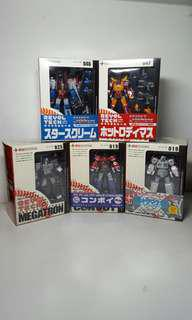 Transformers Kaiyodo Revoltech Optimus Prime Convoy Megatron Rodimus Prime Hot Rod Star Scream Ultra Magnus action figures Not Takara Hasbro