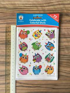 Cute Owls Stickers
