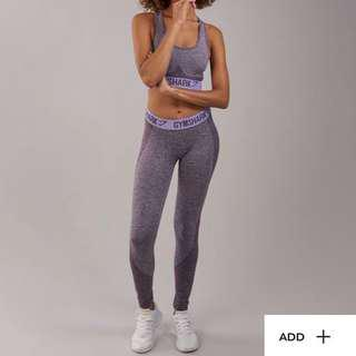 Gymshark flex leggings in purple wash size S