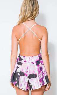 NEW! Pink White Floral Romper