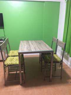 Almost new! 4 seater dining set