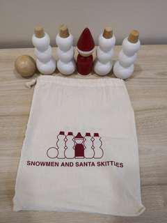 🚚 Snowman and Santa Wood Skittles Muji