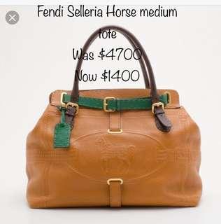 e80168d48724 Fendi selleria horse bag tote