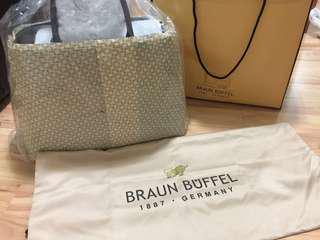 Braun buffel duffel bag authentic new