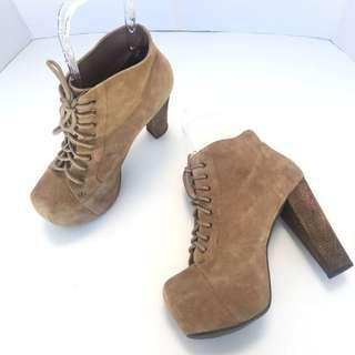 Lita Platform Boots Brown Suede