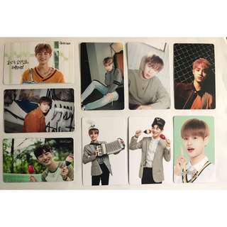 Wanna One Unofficial Photo Cards x 9