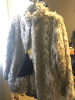 One Teaspoon Faux Fur Rockstar Jacket