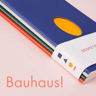 🚚 The BAUHAUS! Geometry Notebooks (SET OF 4)