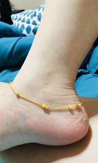 24k gold anklet