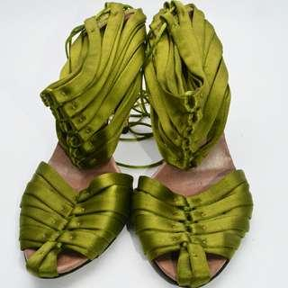 Authentic  Gucci Bamboo CorsetSatin HeelsShoes