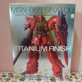 🚚 MG 1/100 Sinanju Ver.Ka Titanium Finish