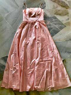pink dinner gown