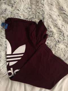 Adidas burgundy tshirt